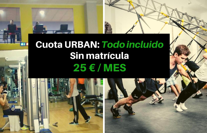 Precios gimnasio urban fitness orihuela